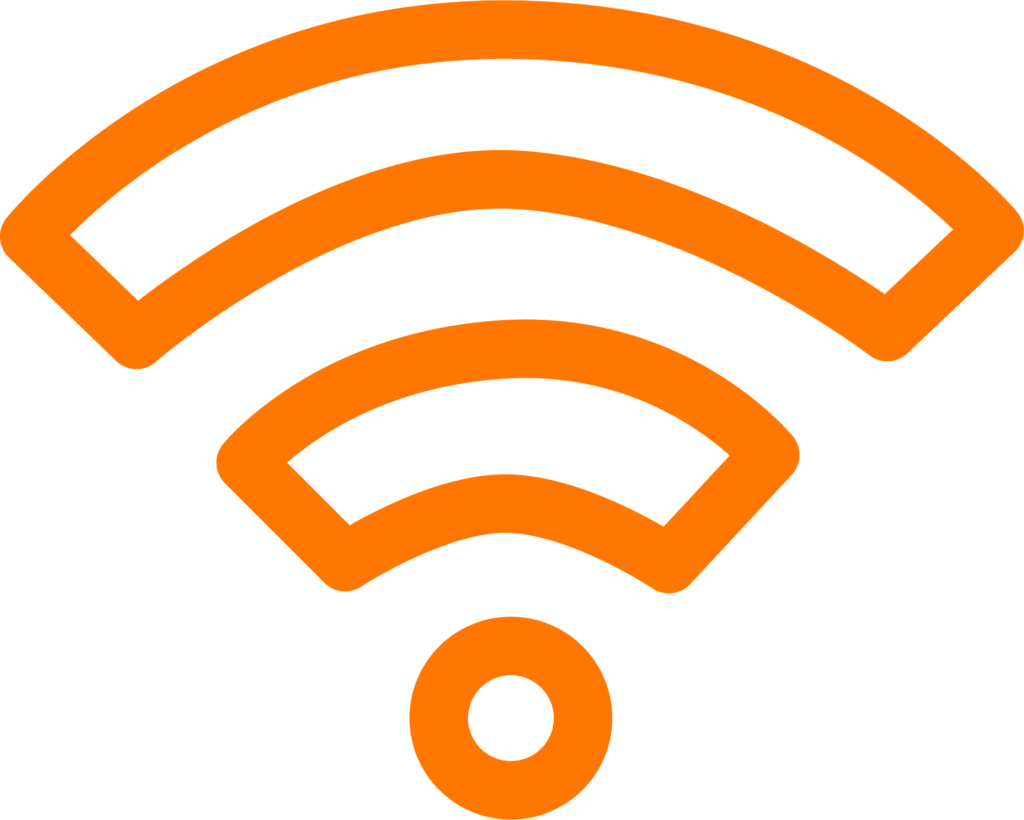 Pictogramme accès wi-fi gratuit