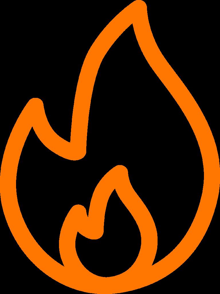Pictogramme grillades à la cheminée